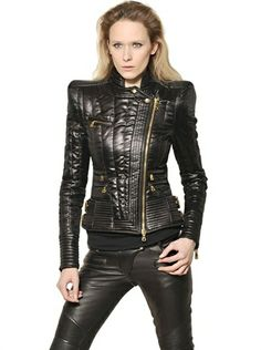 Quilted Techno Satin Perfecto Jacket - Lyst