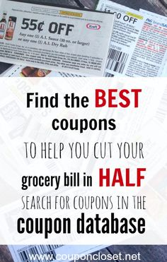 Did you know that you can actually search for coupons. Here is a Coupon Database where you can search for grocery coupons by brand or by type. Then you will find the BEST coupons to help you save on your groceries. Couponing For Beginners, Couponing 101, Extreme Couponing, Ways To Save Money, Money Tips, Money Saving Tips, Planning Budget, Grocery Coupons, Budgeting Money