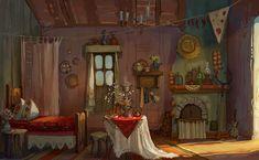 Concept interior with Ukrainian motives on Behance Building Rendering, Building Art, Ukrainian Art, Fairytale Art, Environment Concept Art, 2d Art, Environmental Art, Illustration Art, Gallery