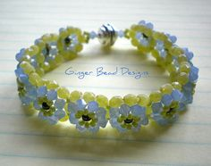 Crystal Clear Air Blue Opal Swarovski by GingerBeadDesigns on Etsy, $44.00