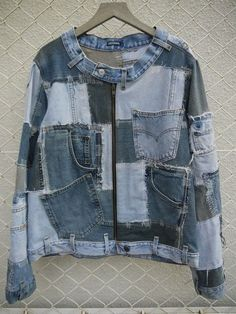 recycled Demin [[each patch could have its own detailing- embroidery, crazy quilting, bleach/dye]]