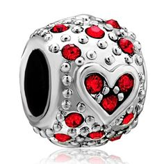 Pugster Jewelry January Birthstone Heart Beads - Pandora Charm & Bracelet Compatible (bestseller)
