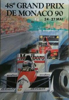 Affiche 48eme grand prix de Monaco 1990