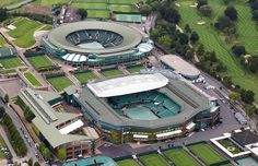 Tennis, anyone?    An aerial view of Wimbledon, which will host the tennis events during the 2012 Olympic Games.