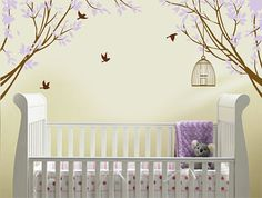 Vinyl Wall Decal Sticker Corner Branches with by missymoovinyl, $60.00