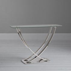 Buy John Lewis & Partners Moritz Console Table from our Console Tables range at John Lewis & Partners. Furniture, Console, House Styles, Glass Top, Table, Console Table, Entrance Design, Glass, Elegant Hotel