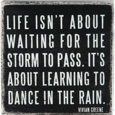 Dancing In The Rain Box Sign
