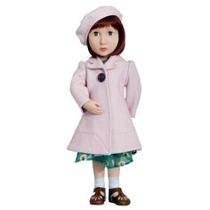 A Girl For All Time - Clementine's Pink Coat and Beret – Modo Creations