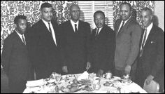 """The 'Big Six"""" were the most prominent civil rights leaders of the 1960's and were the organizers of the 1963 March on Washington for Jobs and Freedom. They were: James Farmer (CORE), Dr. Martin Luther King, Jr. (SCLC), John Lewis (SNCC), A. Philip Randolph (Brotherhood of Sleeping Car Porters), Roy Wilkins (NAACP), and Whitney Young (National Urban League). Lewis, who was 23 at the time of the march,, is the only one of the six still living."""
