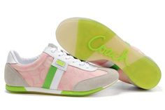 COACH SNEAKER-- LIGHT PINK AND GREEN