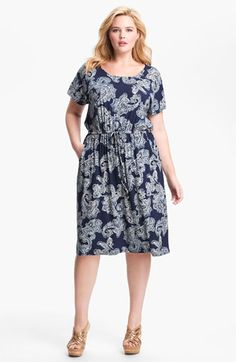 Lucky Brand Paisley Dress (Plus) | Nordstrom - Cute summer dress and it's on sale :)