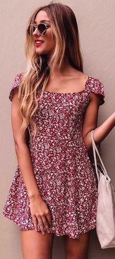#summer #mishkahboutique #outfits | Little Floral Dress
