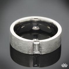 men wedding ring baguette