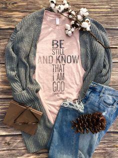 Be Still and Know Woman Shirts wonder woman shirt Cute Tshirts, Mom Shirts, T Shirts For Women, Vinyl Shirts, Jesus Shirts, Christian Clothing, Christian Shirts, Pijamas Women, Cute Shirt Designs