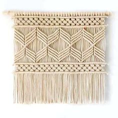 Handmade Herringbone Design Macrame Wall Art (5 Variants & Colors)