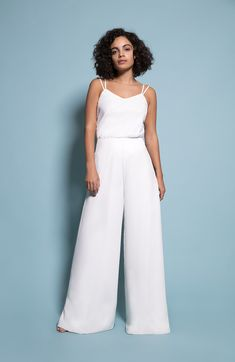 Our Provence top paired with Amalfi trousers now in Ivory - order yours now! Crepe Fabric, Lining Fabric, Ivory Bridesmaid Dresses, Palazzo Trousers, 4 Inch Heels, Mix N Match, Amalfi, Body Measurements, Provence