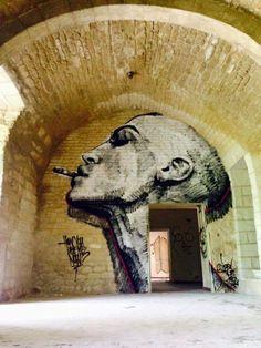 Dire at Château de Boisseron (FR) #streetart ♥♥♥