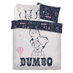 This amazing Dumbo Double Bedding Set is sure to be a favourite for all Disney fans. Everybody's favourite Elephant is back again on the front of this amazing bedding. Let Dumbo fly you to amazing new heights this bedtime. Double Bedding Sets, Double Duvet Covers, Duvet Sets, Duvet Cover Sets, Disney Quilt, Disney Bedding, Disney Furniture, Disney Bedrooms, Sustainable Textiles