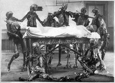 """eviscerator: """"Medical Students have been dissecting cadavers for ages as part of their training. It's still a rite of passage in medical schools throughout the world. Around the turn of the Creepy Images, Creepy Pictures, Memento Mori, Old Barbie Dolls, Miss Peregrine, Home For Peculiar Children, Victorian Photos, Victorian Era, Strange Photos"""