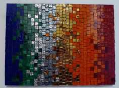 Stained glass mosaic.