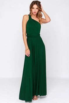 Green Halter Backless Maxi Dress