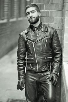amazinh man in leather