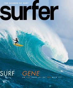Example of Surf mag cover from April 2012. I think it's a Strange mix of color with the orange title but the picture is great