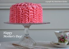 Ruffle Cake for Mother's Day Afternoon Tea