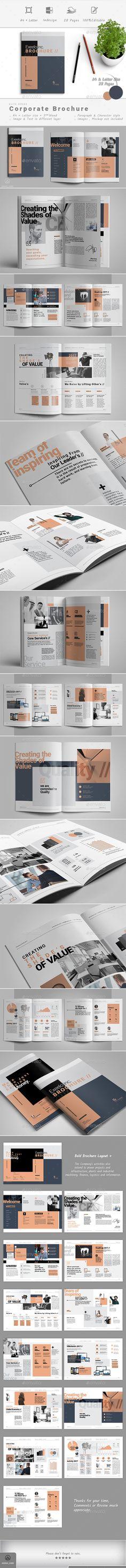 Brochure Template Brochure, Brochure Layout, Indesign Templates, Flyer Design Templates, Brochure Design, Report Template, Business Brochure, Company Brochure, Corporate Business