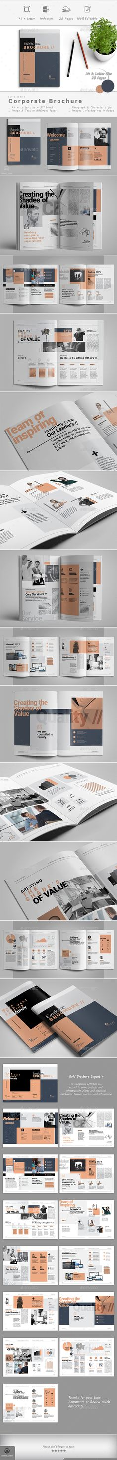 Brochure — InDesign INDD #brochure #report template