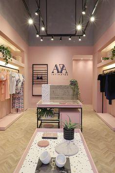 Fashion Shop Interior, Clothing Boutique Interior, Lingerie Store Design, Clothing Store Design, Design Boutique, Boutique Decor, Showroom Interior Design, Retail Interior, Store Interiors