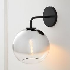 Sculptural Glass Globe Wall Sconce - Small (Ombre) | West Elm