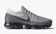 The Nike Air VaporMax In Pure Platinum And Volt