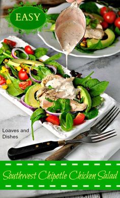 So Easy to Eat Lighter!  Won't you eat lighter today? Try Southwest Chipotle Chicken Salad for an easy zesty family dinner TODAY! Easy to follow recipe instructions on this link