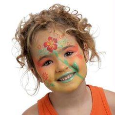 Maquillage enfant Fleur pour Carnaval