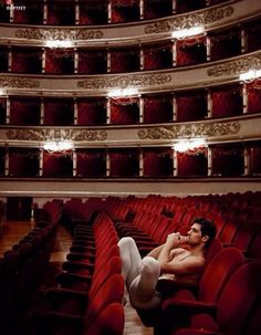 Roberto Bolle in the audience at La Scala