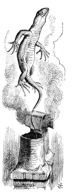 "Sir John Tenniel's Classic Illustrations of Alice's Adventures in Wonderland – Alice's Adventures In Wonderland – Medium ""There goes Bill!"""