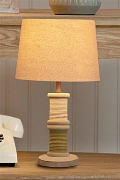 Buy Small Good Life Bobbins Lamp from the Next UK online shop New England Bedroom, Home Id, Blue Bedroom, Next At Home, House Colors, Life Is Good, Uk Online, New Homes, Table Lamp