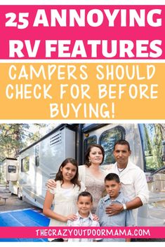 camp checklist If youre a first time buyer or soon to be full timer, make sure to check out these 25 RV features before buying so that you dont end up regretting it later. but still being stuck with the payments! Camping Packing, Camping Games, Camping Activities, Camping Crafts, Camping Life, Camping Gear, Kids Checklist, Camping Checklist, Camping Essentials