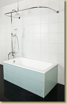 Kohler memoirs cast iron tub bathroom pinterest cast for Built in tub dimensions