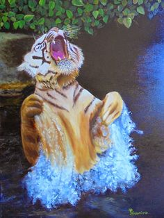 PrisecariuGeaninaArt: Tiger 70x50 oil on canvas