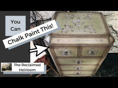 Learn to paint mirror with chalk paint! This dresser is made entirely of mirror! You will learn how to do Chalk Paint Blending with glaze and learn how to cr. Chalk Paint Brushes, Using Chalk Paint, Chalk Paint Furniture, Old Furniture, Tape Painting, Mirror Painting, Furniture Cleaner, Weekend Projects, Acrylic Paintings