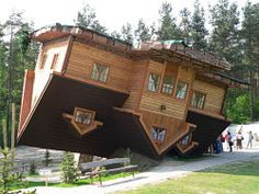 Upside down house in Szymbark, Poland.    My other pin made me look into Poland and I found some really cool places! One more to follow.