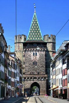 Spalentor, 600 year old city gate, Basel, Switzerland.I want to go see this place one day.Please check out my website thanks. www.photopix.co.nz
