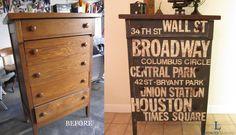 New York Subway Art Custom Dresser - Subway Art Furniture   Houston Furniture Refinishing: Lindauer Designs