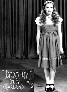 Judy Garland wardrobe and hair test for Dorothy Gale - Wizard of Oz, 1939