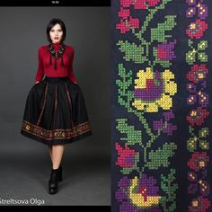 If skits I like the placement and style of embroidery Folk Embroidery, Learn Embroidery, Beaded Embroidery, Embroidery Stitches, Embroidery Patterns, Folk Fashion, Ethnic Fashion, Palestinian Embroidery, Organza