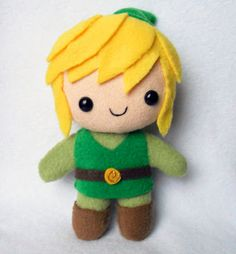 """I'm not sure whether to put this in """"Nerdy Stuff"""" or """"Adorable"""". *squee* <- now it's in Zelda Link Zelda, Sewing Crafts, Sewing Projects, Projects To Try, Felt Projects, Geek Crafts, Diy Crafts, Plush Pattern, Felt Toys"""