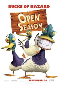 Open Season , starring Ashton Kutcher, Martin Lawrence, Debra Messing, Gary Sinise. Boog, a domesticated 900lb. Grizzly bear finds himself stranded in the woods 3 days before Open Season. Forced to rely on Elliot, a fast-talking mule deer, the two form an unlikely friendship and must quickly rally other forest animals if they are to form a rag-tag army against the hunters. #Animation #Adventure #Comedy #Family