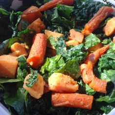 Kale Salad with Warm Roasted Sweet Potato and Carrots   If you're like us, as the weather gets cooler, you begin to crave warming, hearty foods. Unfortunately, the season's comforting foods also tend to be high in calories and fat.   The best way to combat this crisis? A Cozy Fall Salad! That's right, we …